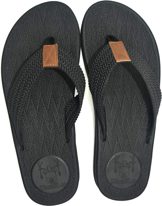 KUAILU Mens Flip Flops Thong Sandals