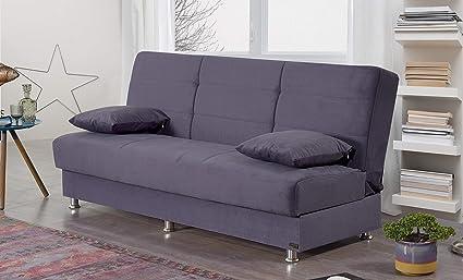 Amazon.com: BEYAN Ramsey Collection Armless Modern Convertible Sofa ...