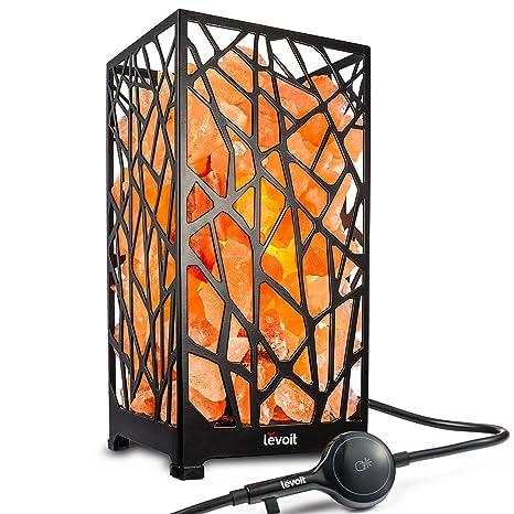 Amazon.com: Levoit Ezra lámpara de sal del Himalaya ...