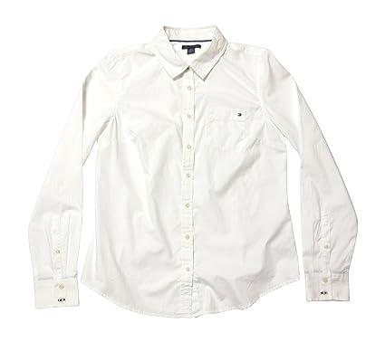 Tommy Hilfiger Women's Woven Dress Shirt at Amazon Women's ...