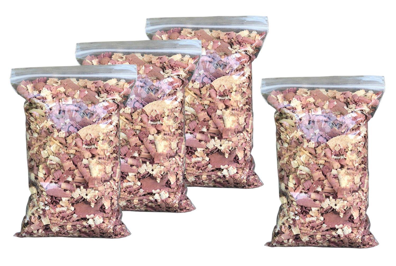 Vundahboah Amish Goods Cedar Wood Mulch Chips Shavings For Garden- Screech Owl House/Box- Organic Bedding (6 Quart (1.5 Gallon))