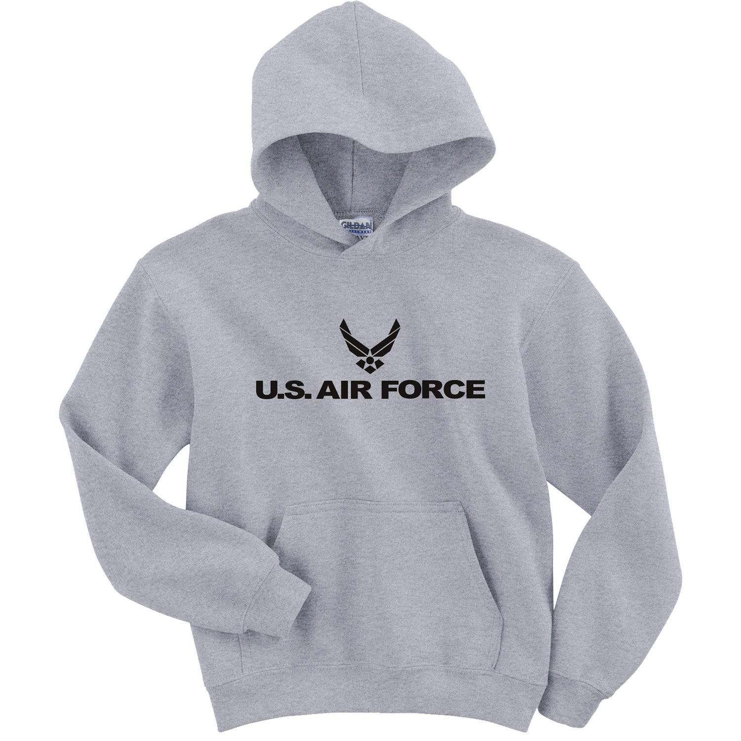 Youth Air Force Hooded Sweatshirt in Gray