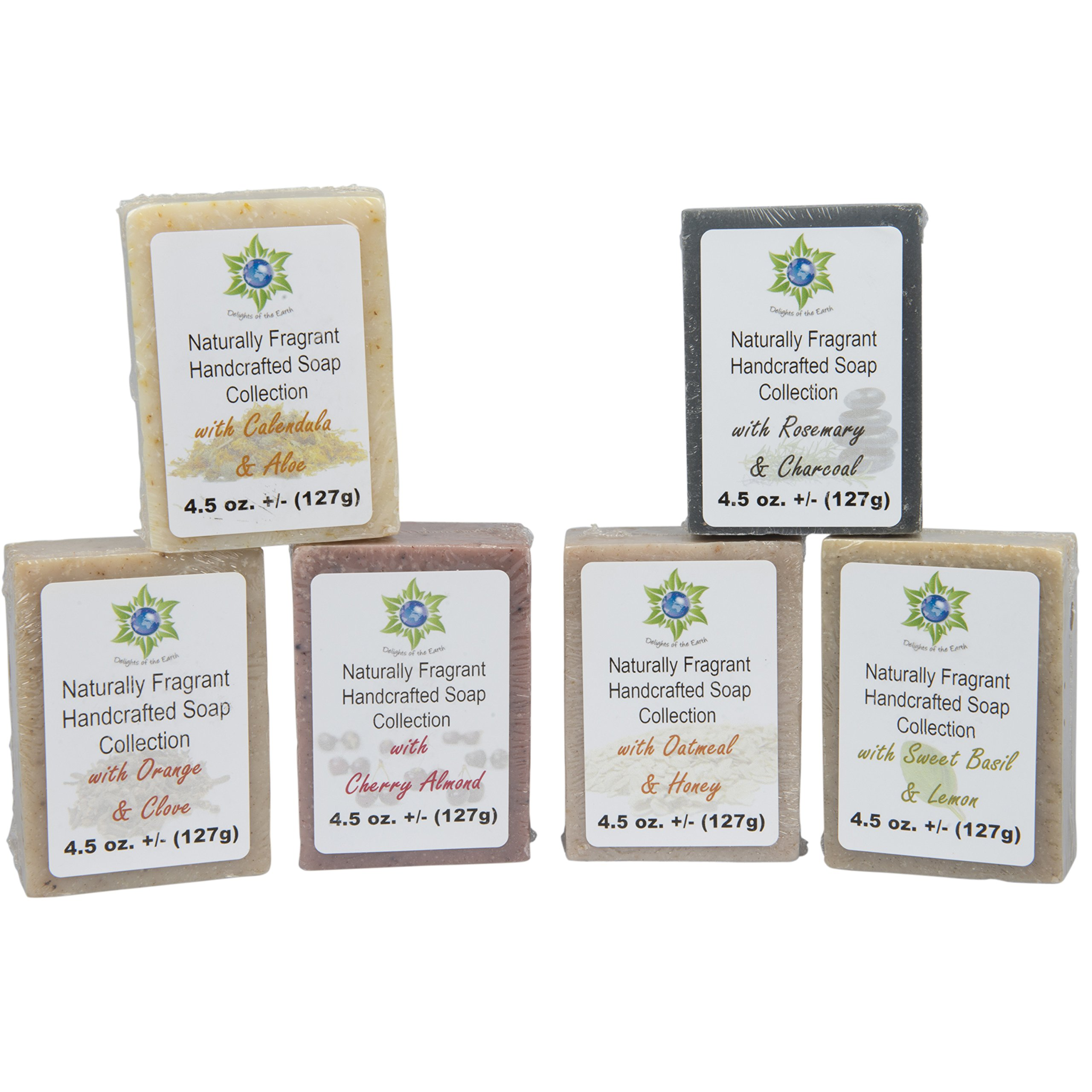 Soap Bar Variety Pack - All Natural Hand Poured Soap Bars - 6 Different Relaxing Scented Soaps