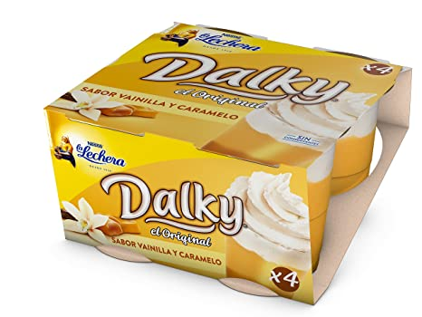 La Lechera Dalky, Postre lácteo (Vainilla y caramelo) - 4 de 100 gr