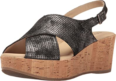 Cordani Women's Delight Black Texture Wedge