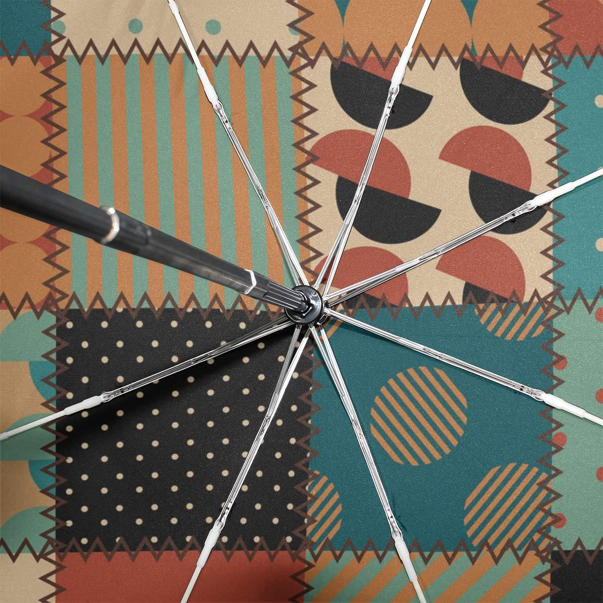 Paraguas 3 Pliegues Personalizar Patchwork Floral Anti-UV ...