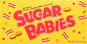 Sugar Babies Candy Coated Milk Caramels, 6 OZ (Pack of 12)