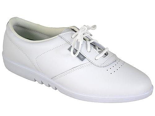 Shoe Tree Señoras Excelente Calidad suave funda de piel zapatos de se puede lavar a máquina. Color blanco: Amazon.es: Zapatos y complementos
