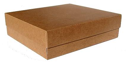 Caja para regalo automontable, set 12 unidades Kraft (22 x 20 x 6): Amazon.es: Oficina y papelería