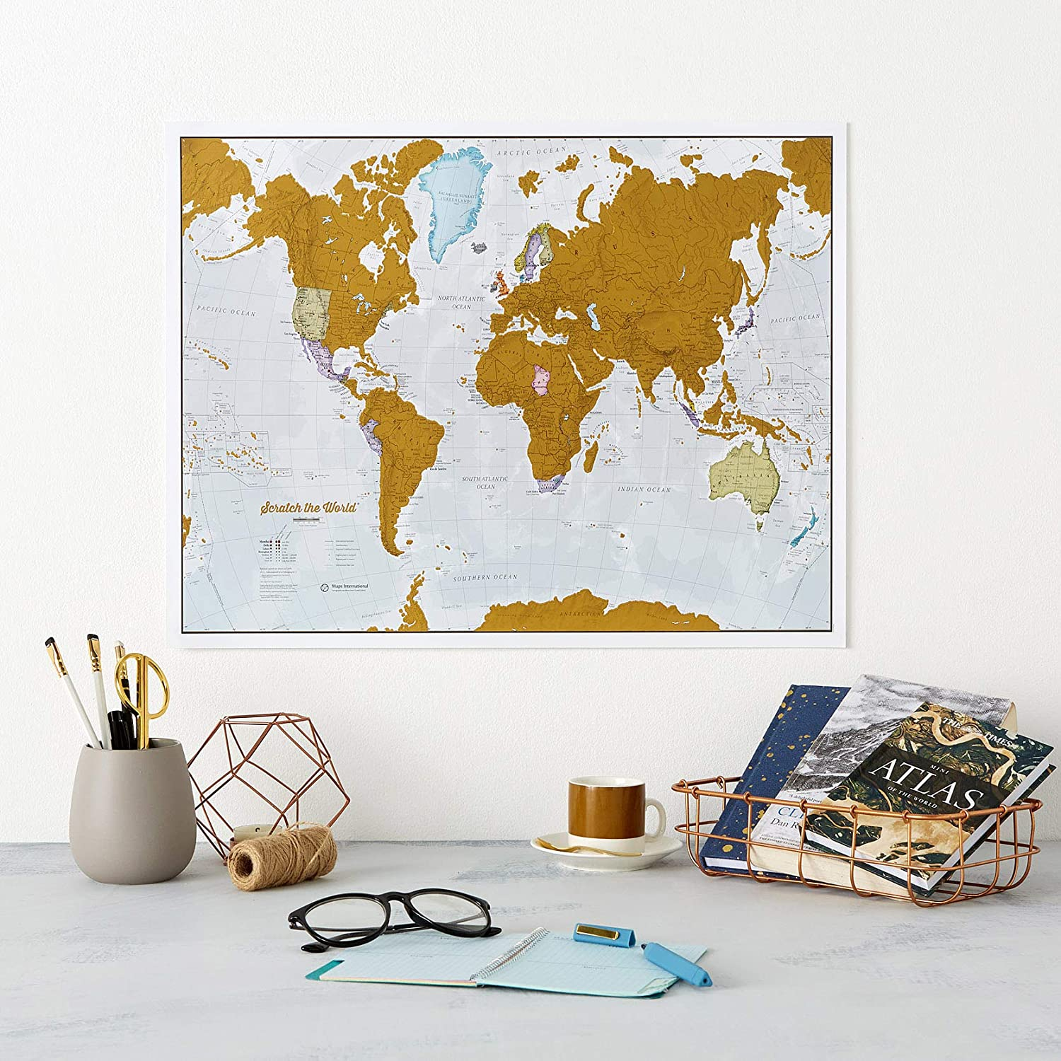 Scratch Off World Map Poster Most Detailed Cartography Maps International Scratch The World Travel Map 22 x 17