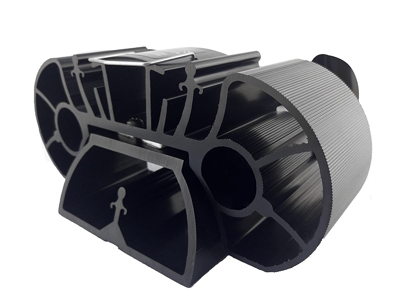 Miniventilador de 10 cm de alto, 2 hojas, para estufa o cocina, adecuado para un espacio superpequeño en la parte superior del quemador de madera o ...