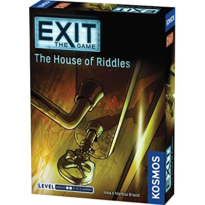 Exit: The House of Riddles | Exit: The Game - A Kosmos Game from Thames & Kosmos | Family-Friendly, Card-Based at-Home Escape Room Experience for 1 to 4 Players, Ages 10+: Toys & Games
