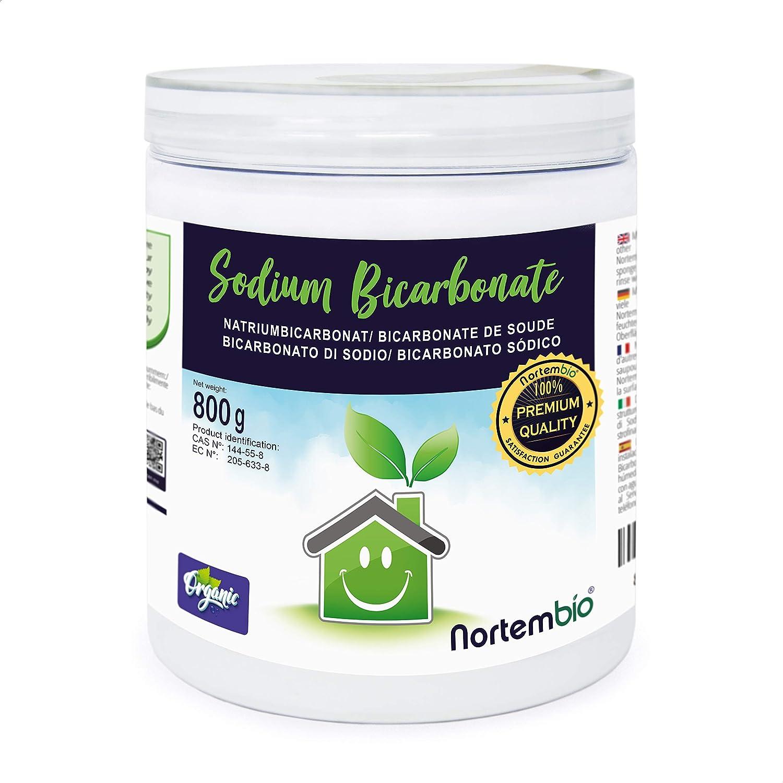 Nortembio Bicarbonato de Sodio 800g, Insumo Ecológico de Origen Natural, Libre de Aluminio, EBook Incluido.: Amazon.es: Hogar