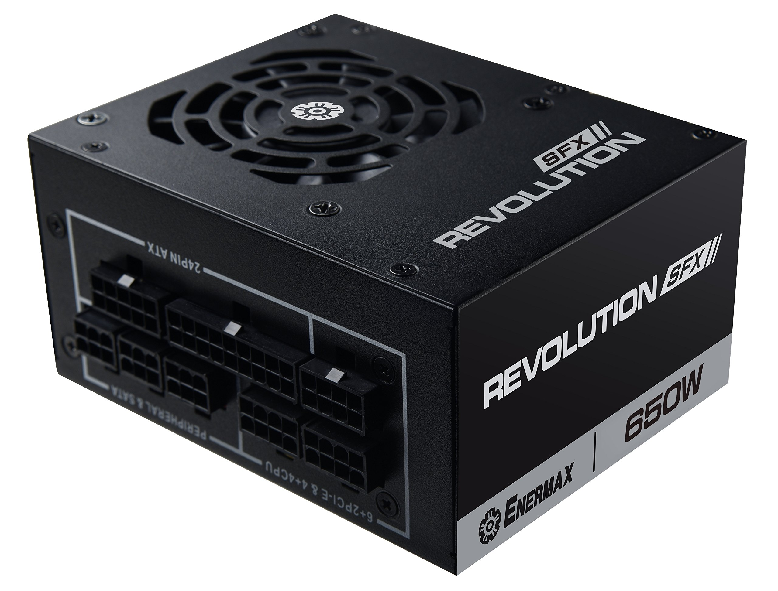 Enermax Revolution SFX 650W 80 PLUS Gold Full modular Semi-Fanless Power Supply with SFX-to-ATX PSU adapter bracket (ERV650SWT)Free Q-Boom Bluetooth Speaker inside