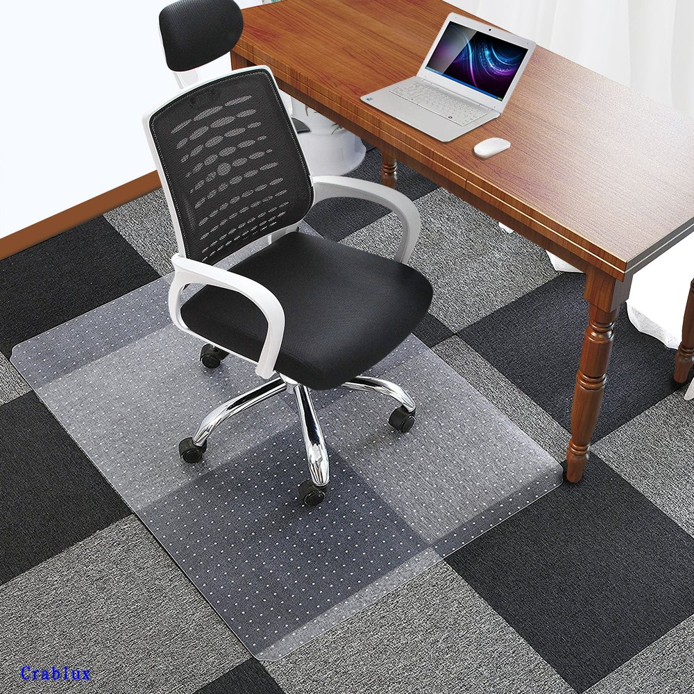 Office Chair Mat for Carpets Floors Heavy Duty Carpet Chair Mat For Low And Medium Pile Carpets 48'' x 36'', Rug Protector Chair Mat