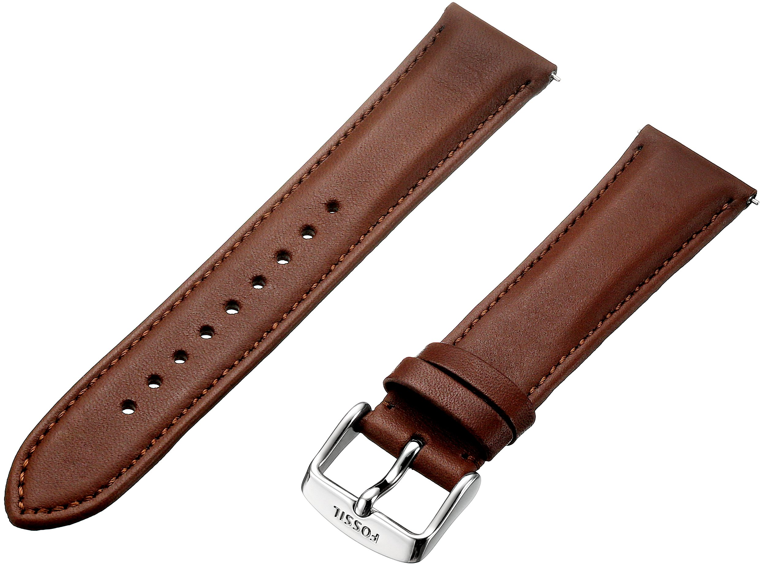 Fossil Women's S201024 20mm Leather Watch Strap - Brown