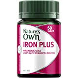 Nature's Own Iron Plus - Assists Healthy Red Blood Cell Production - Maintains Immune System Function, 50 Tablets