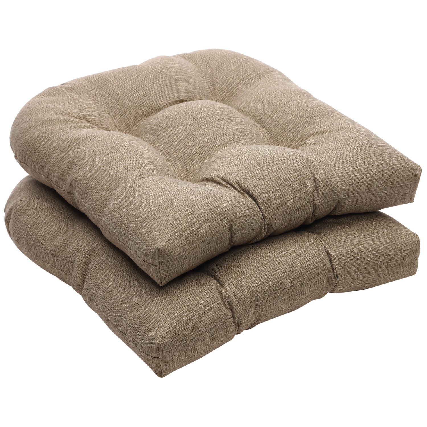 Pillow Perfect Indoor/Outdoor Taupe Textured Solid Wicker Seat Cushions,  2-Pack - Patio Furniture Cushions Amazon.com