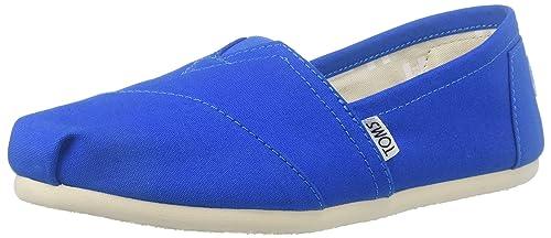 TOMS Canvas Seasonal Classics Alpargata, Zapatillas de Estar Por Casa Para Mujer, Azul (Slate Blue), 37 EU