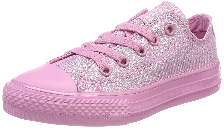 Converse Unisex-Kinder CTAS OX Fitnessschuhe  28/29 EU|Pink (Light Orchid/Silver 523)