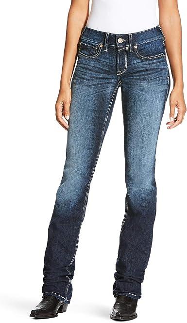 Ariat Women S R E A L Mid Rise Straightjean At Amazon Women S Jeans Store