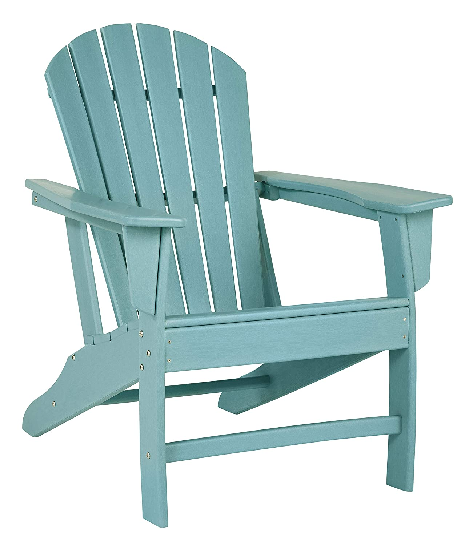Amazon com signature design by ashley p012 898 sundown treasure adirondack chair turquoise garden outdoor
