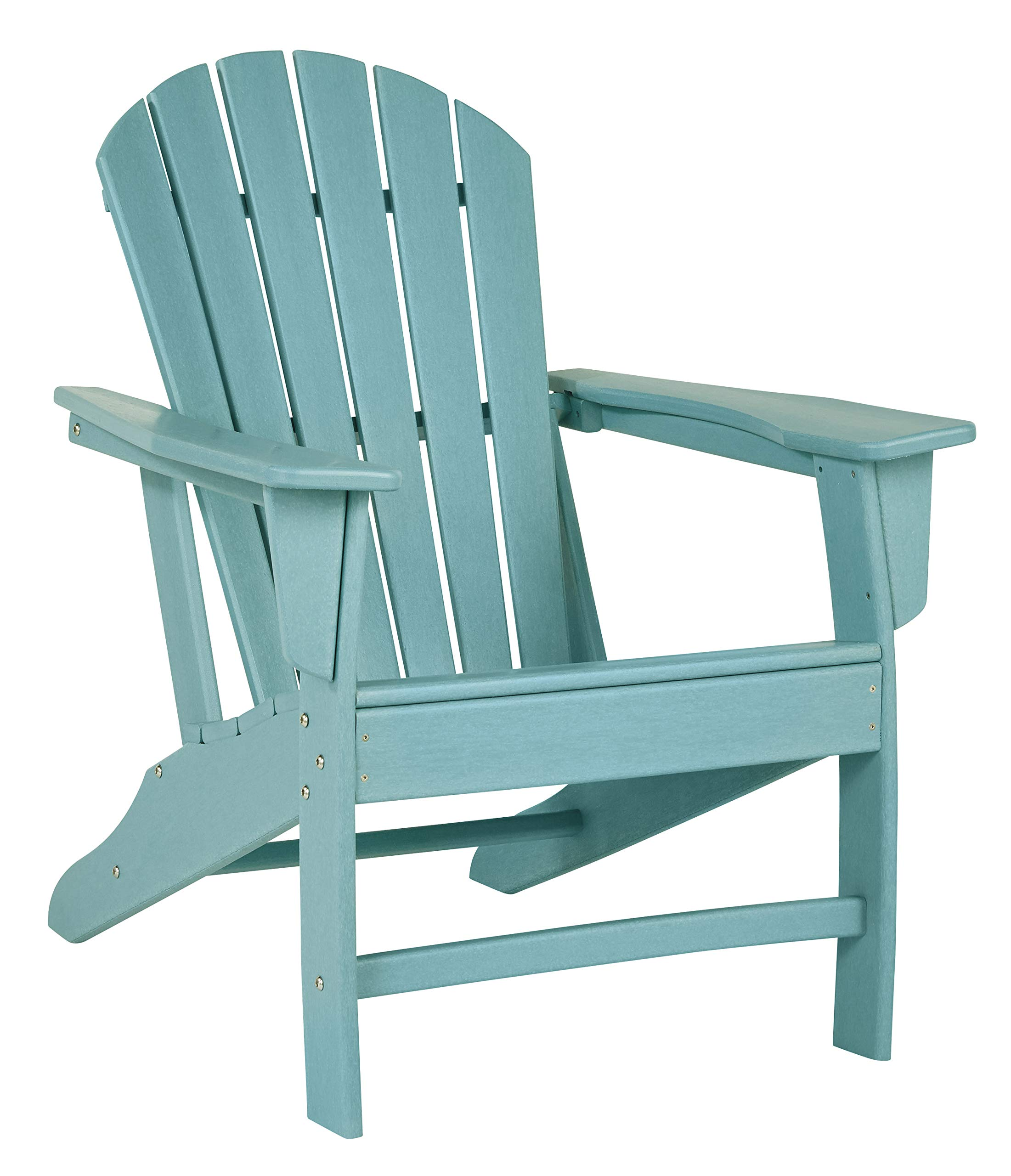 Ashley Furniture Signature Design - Sundown Treasure Outdoor Adirondack Chair - Hard Plastic - Slat Top - Turquoise by Signature Design by Ashley