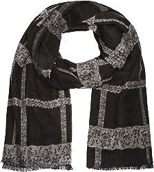 SIX moderner schwarzer unisex Winterschal mit grauem, gemustertem Karo, kariert (356-761)