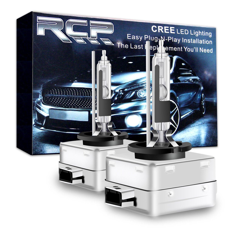 RCP - D3R6 - (A Pair) D3R 6000K Xenon HID Replacement Bulb Diamond White Metal Stents Base 12V Car Headlight Lamps Head Lights 35W