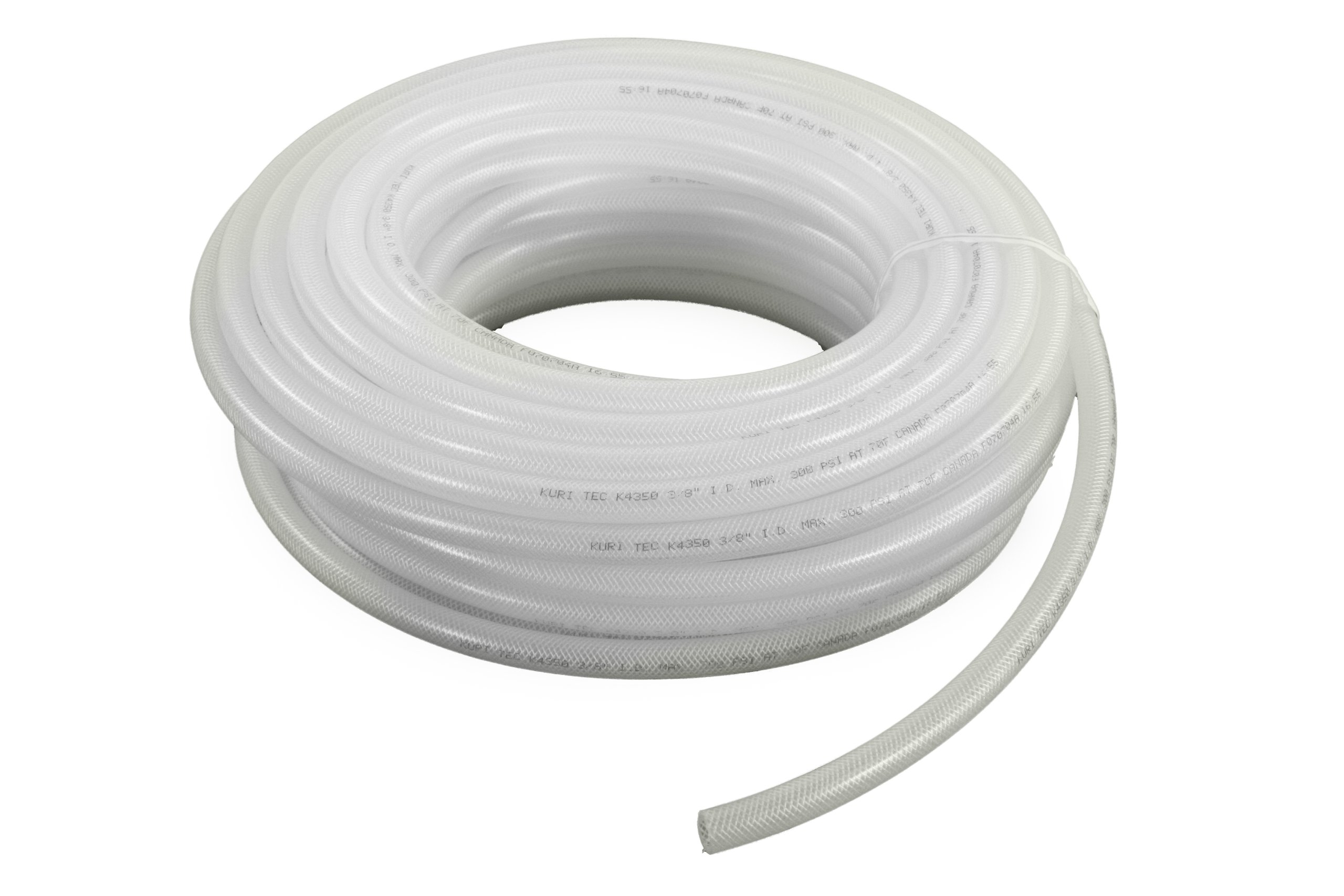 Abbott Rubber 3120-1000-100 Natural Braid-Reinforced 150 PSI EVA Tubing, 1-Inch by 100-Feet