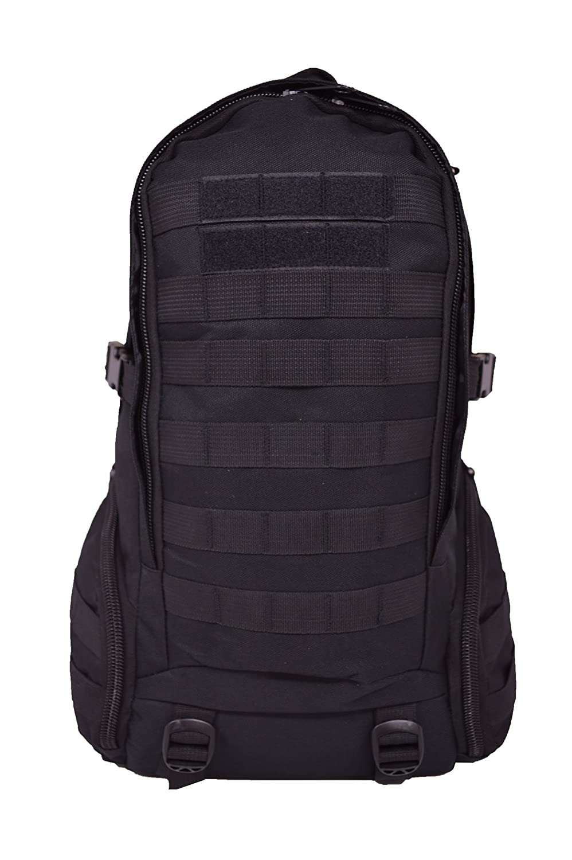 GEARDOハイキング日常使用アウトドアミリタリーバックパック B00KN49LS0 Black Hiking Backpack