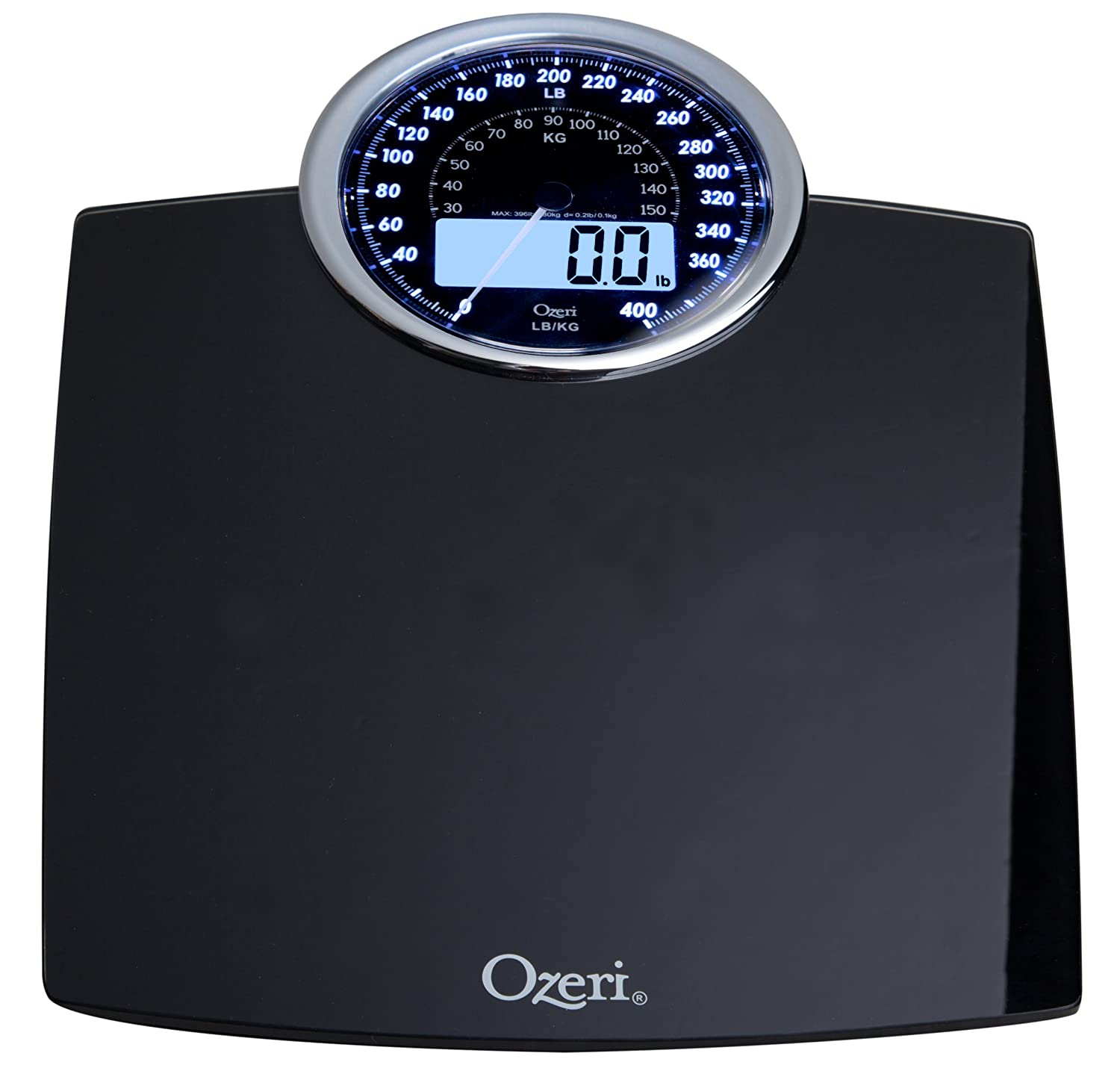 Amazon scale bathroom - Amazon Com Ozeri Zb19 Rev Digital Bathroom Scale With Electro Mechanical Weight Dial Black Health Personal Care