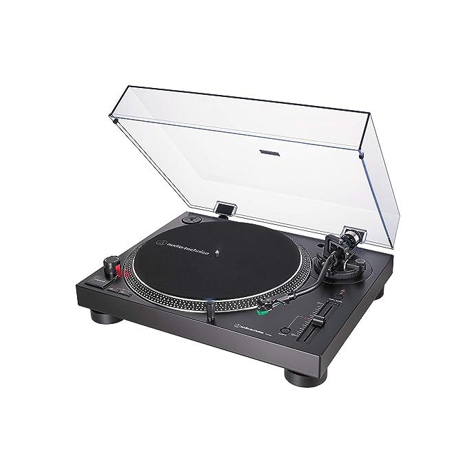 Audio-Technica AT-LP120X, Tocadiscos con USB Plug & Play, Negro