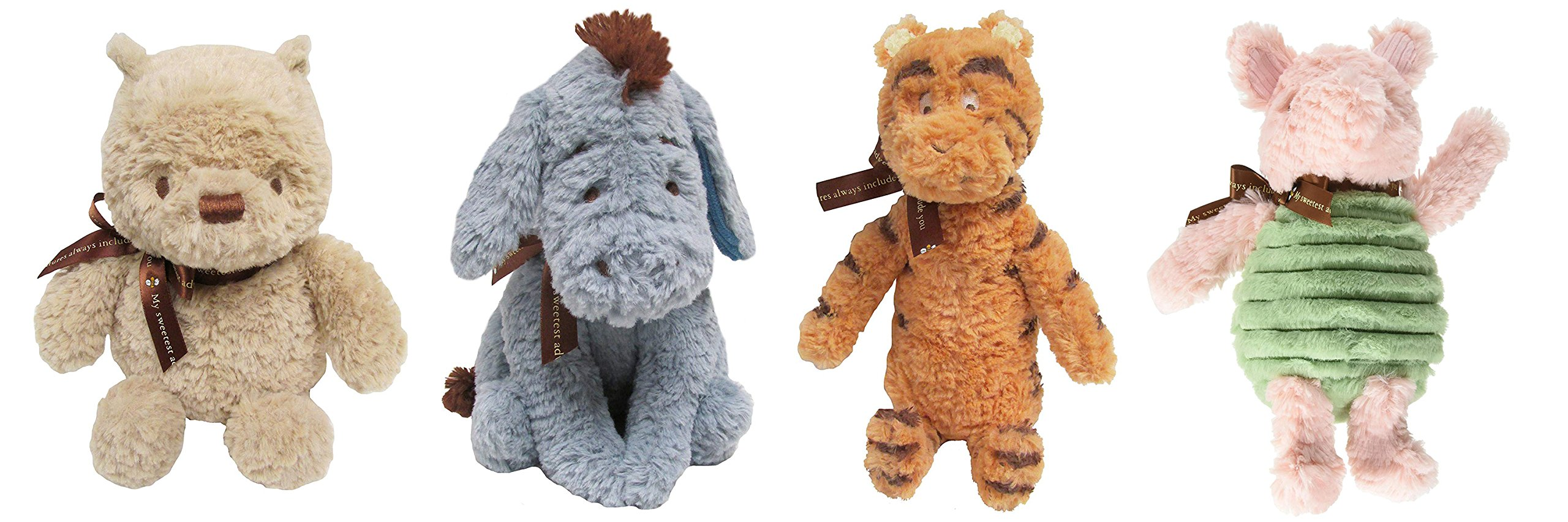 Kids Preferred Classic Winnie The Pooh Set of 4 - Pooh, Piglet, Tigger and Eeyore by KIDS PREFERRED