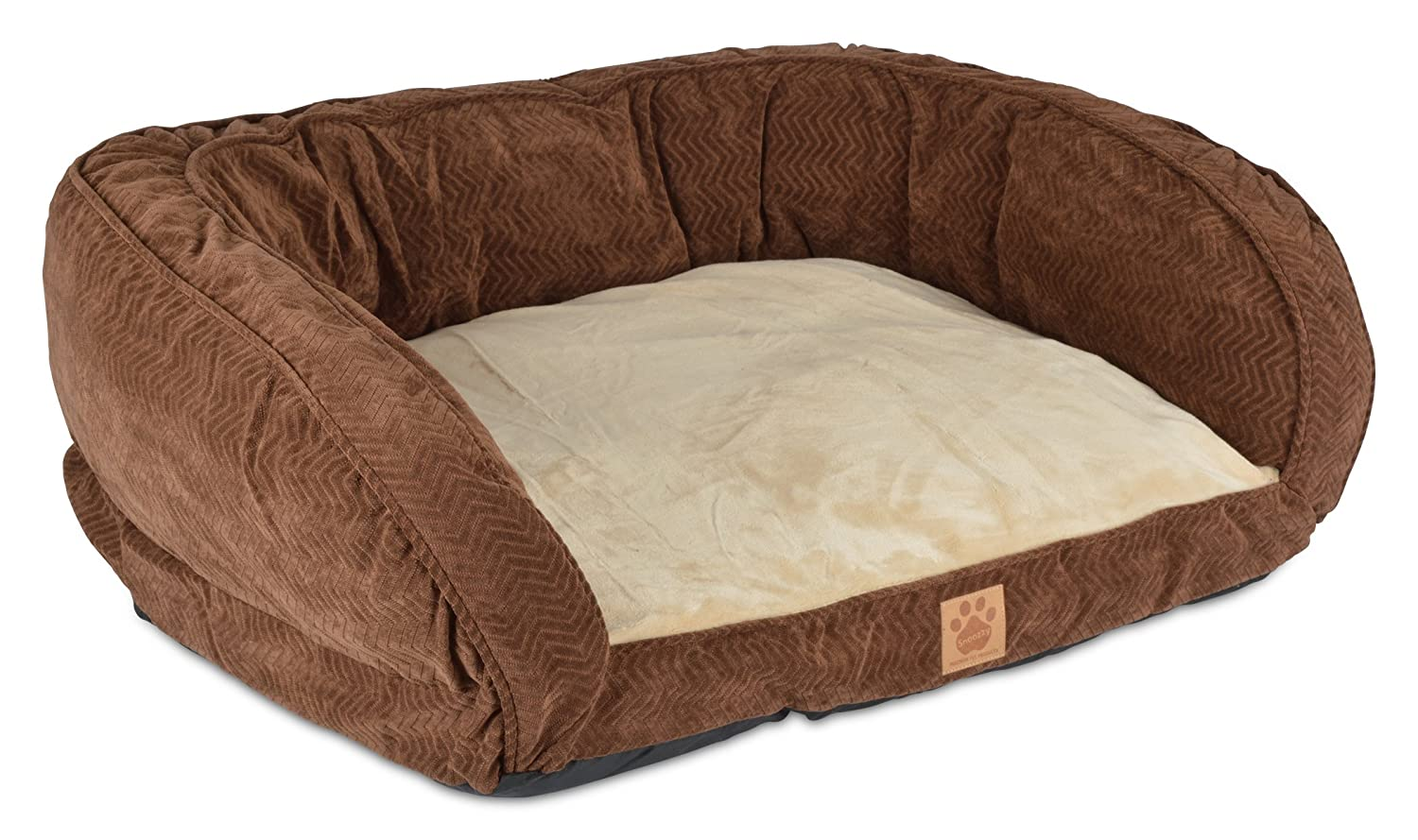 Precision Pet Daydreamer Gusset Couch, 35 by 27 by 11-Inch, Chocolate
