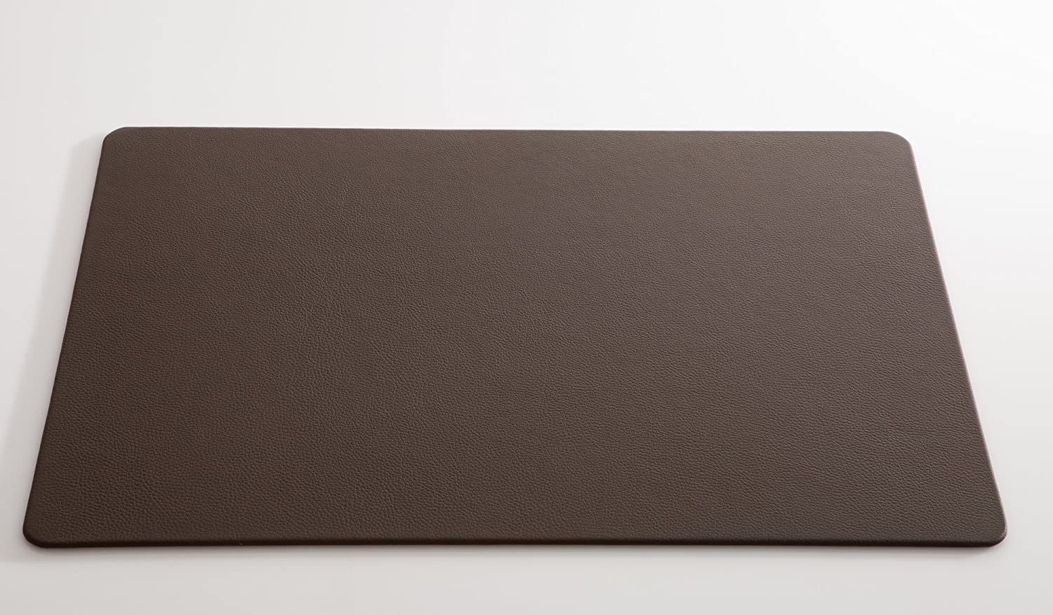 PU Leather Desk Pad Mouse Pad Oversized 39.4x15.7inch Office Desk Mat-Dark Brown