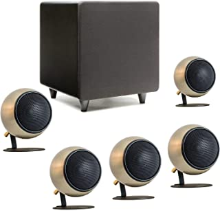 product image for Orb Audio: Mod1 Mini 5.1 Home Theater Speaker System - Surround Sound System - Includes 5 Orbs and 9'' Subwoofer - Great for Movies & Music - Handmade in The US