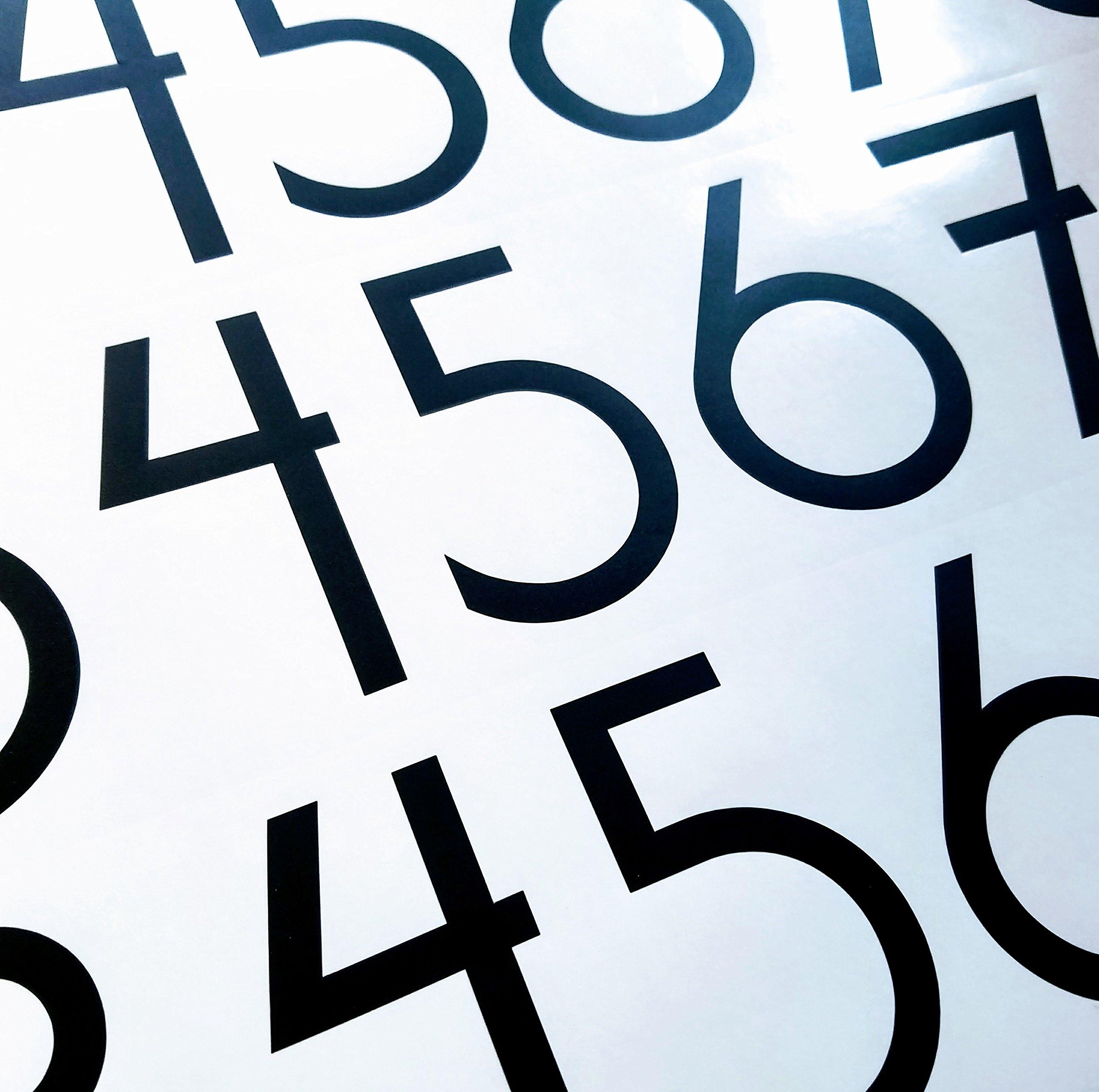 Modern Style Die Cut Vinyl Numbers (3 inch Matte Black)