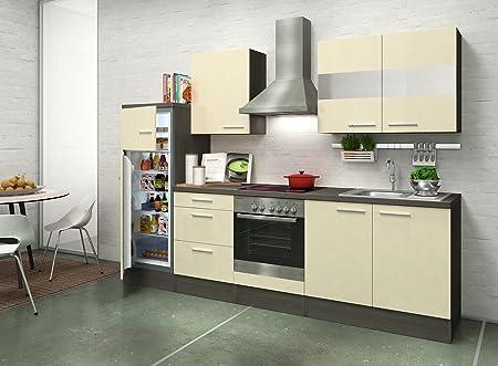 respekta Premium Cocina Cocina Riga 270 cm Roble Vainilla ...