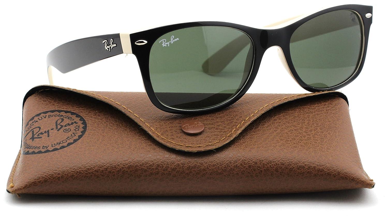 6560ef9e6f Amazon.com  Ray-Ban RB2132 New Wayfarer Classic Unisex Sunglasses (Black  Frame Green G-15 Lens 901