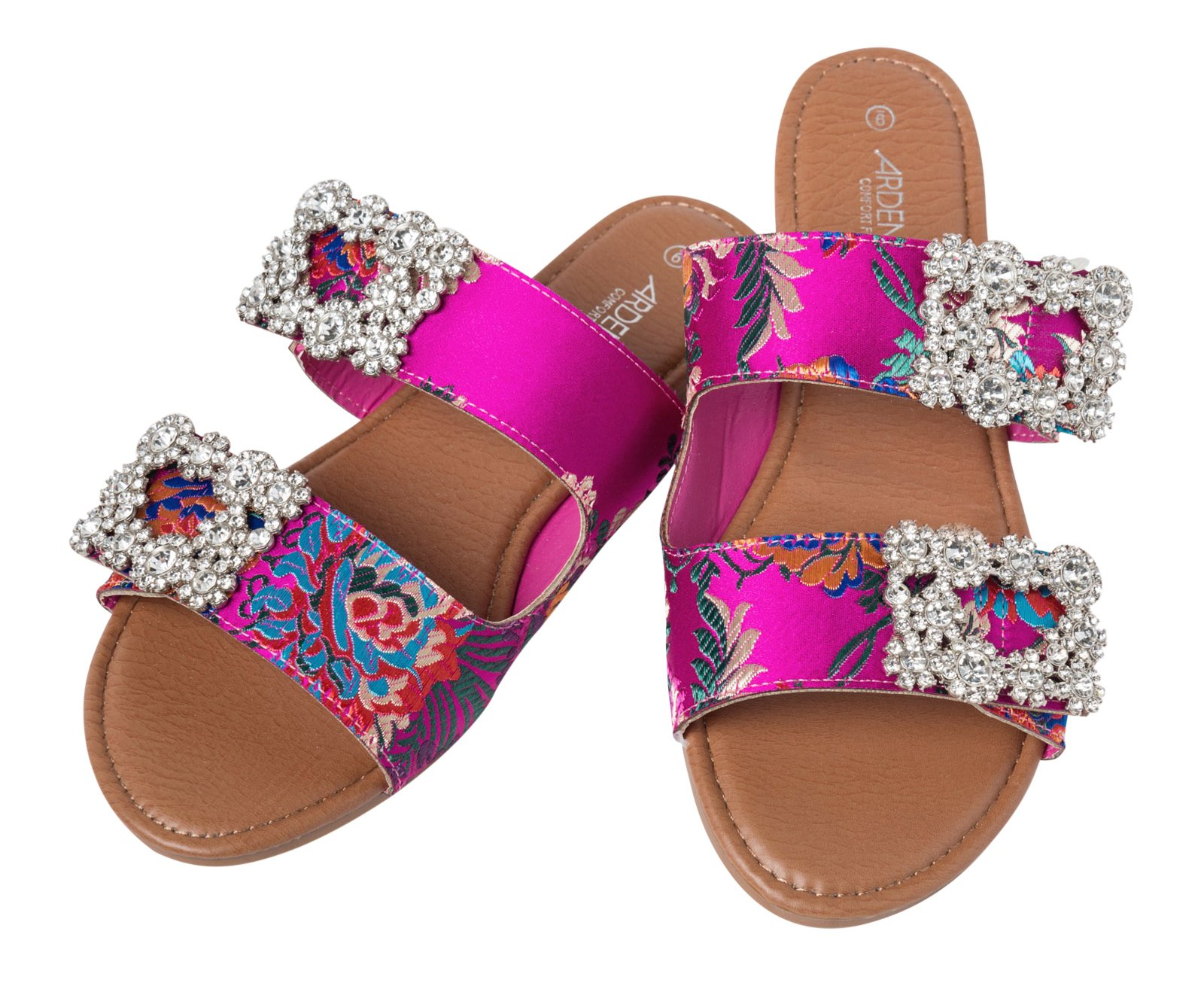 Ardene Women's - Slides - Floral Slides with Brooch 8 -(8A-FW00561)