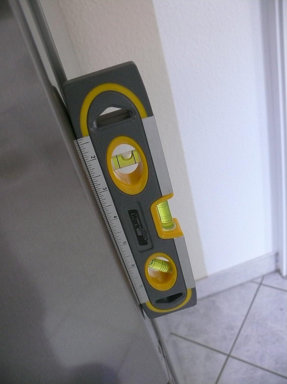 Wasserwaage mit magnetischer Unterseite 230mm und horizontaler vertikaler und 45-Grad-Libelle