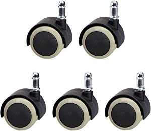 AmazonCommercial 2-Inch Furniture Protecting Swivel Caster, Black, 5-Pack
