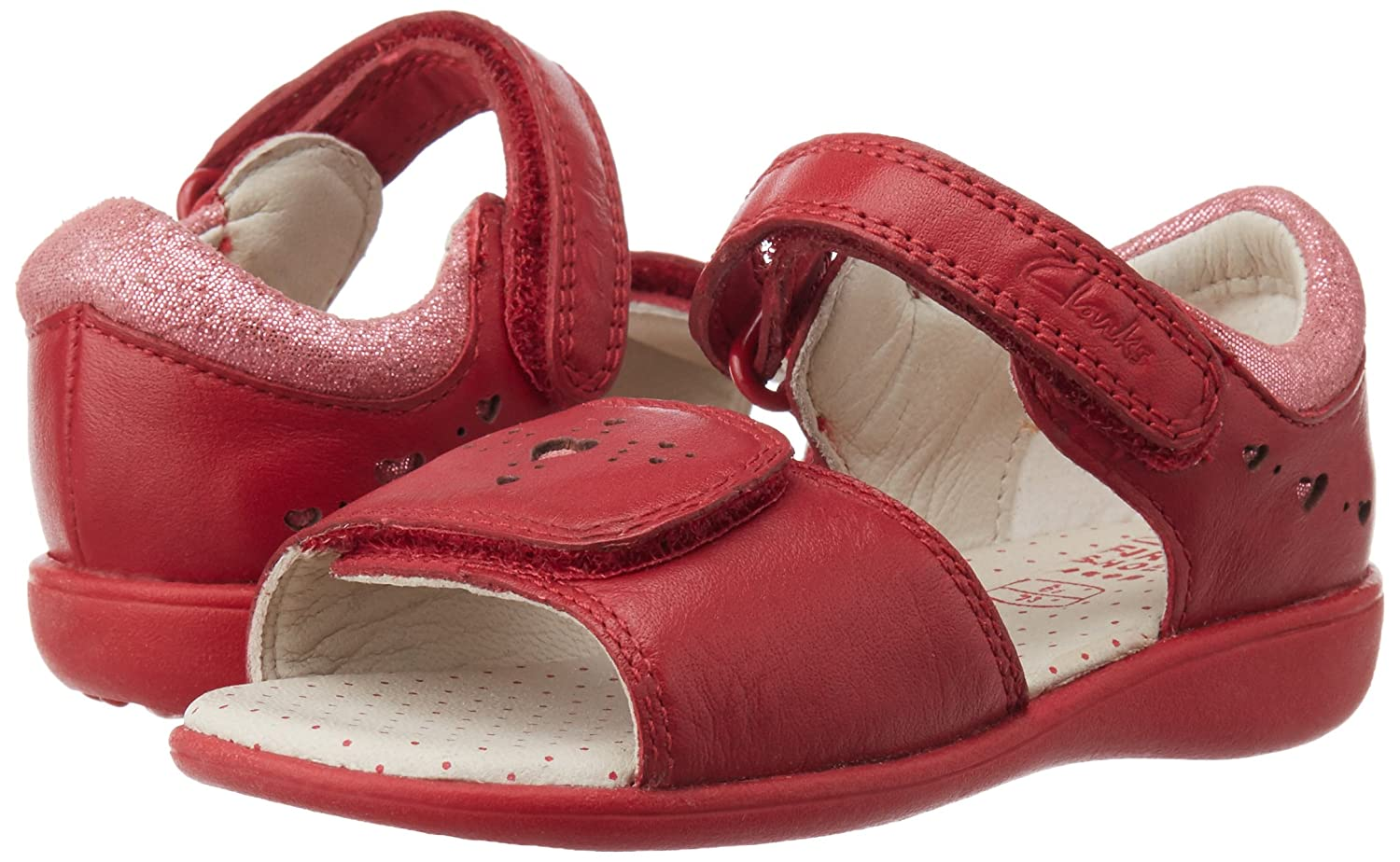 eb1b3e303be Clarks Girl s Hazy Star FST Leather First Walking Sandals  Amazon.in  Shoes    Handbags