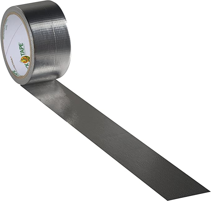 Duck Brand 280621 Single Roll Metallic Color Duct Tape 1.88 x 10 yd Chrome