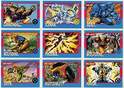 1992 X-MEN SERIES I 1 IMPEL MARVEL COMPLETE CARD SET #1-100 Jim Lee