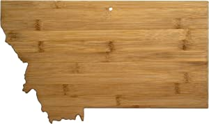 Totally Bamboo Montana State Shaped Bamboo Serving & Cutting Board