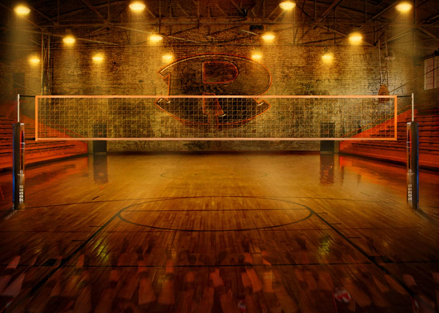 LYLYCTY 7x5ft Match Game Background Retro Style Tennis Court Photo Backdrop Studio Booth Kids Party LYLS1226