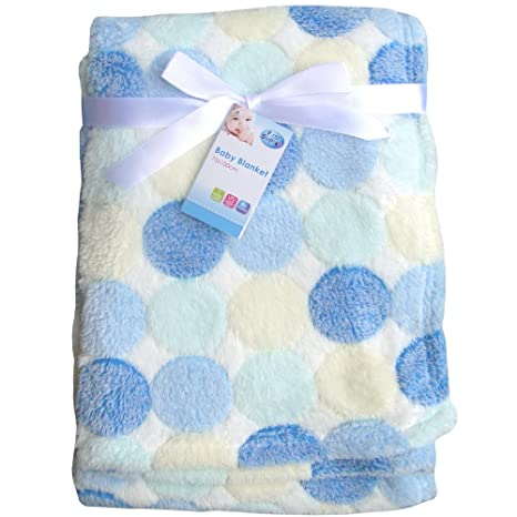 Bedding Baby Products Blue Elephants Super Soft & Fluffy Large Patterned Baby Blanket
