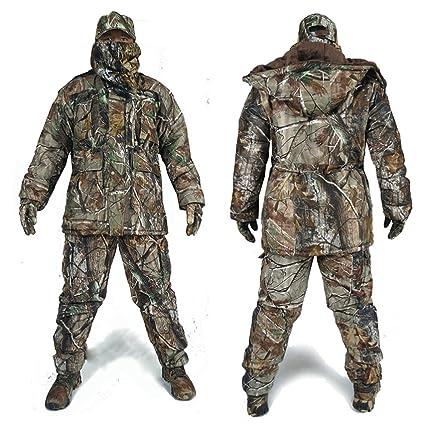 240f96c2bc5e2 DaMaiZhang Men Women Winter Camo Hunting Suits Cotton Hunting Hoodies  Jacket Camo uflage Trousers Waterproof For